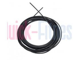 Rollo de cable de acero plastificado negro para máquinas de musculacion y fitness