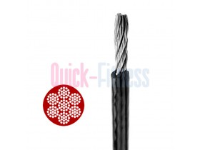 Cable de acero plastificado ideal para máquinas de gimnasio 5 mm