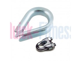 Guardacabos cable fitness y sujetacables para cable de 6mm