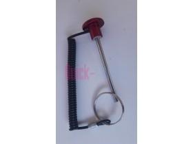 Pincho selector placas 120mm + cordón con anilla