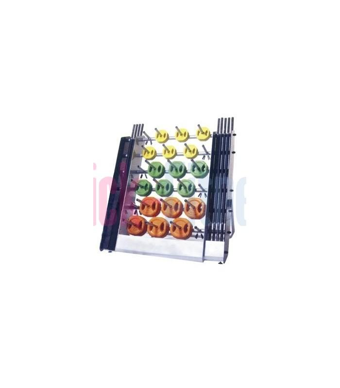 Soporte Discos/Barras (aprox.15 juegos)